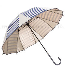 Unieke Navy Stripes Manual Open Straight Umbrella
